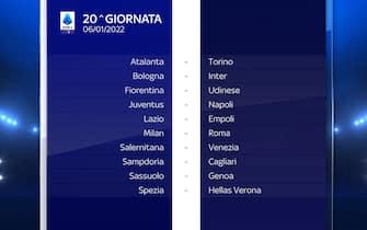Serie A Calendario stagione 2021/2022 ventesima giornata
