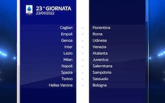 Serie A Calendario stagione 2021/2022 ventitreesima giornata