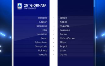 Serie A Calendario stagione 2021/2022 ventiseiesima giornata