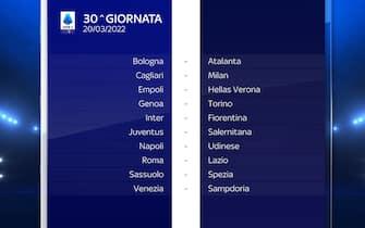 Serie A Calendario stagione 2021/2022 trentesima giornata