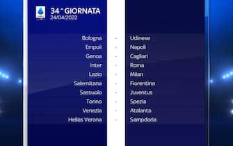Serie A Calendario stagione 2021/2022 trentaquattresima giornata