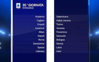 Serie A Calendario stagione 2021/2022 trentacinquesima giornata