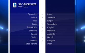 Serie A Calendario stagione 2021/2022 trentaseiesima giornata