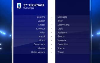 Serie A Calendario stagione 2021/2022 trentasettesima giornata