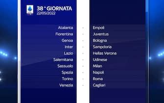 Serie A Calendario stagione 2021/2022 ultima giornata