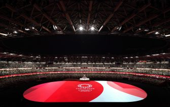 epa09359427 A general view ahead of the Opening Ceremony of the Tokyo Olympic Games at the Olympic Stadium in Tokyo, Japan, 23 July 2021.  EPA/JOE GIDDENS NO ARCHIVING, EDITORIAL USE ONLY, IMAGES TO BE USED FOR NEWS REPORTING PURPOSES ONLY, NO COMMERCIAL USE WHATSOEVER, NO USE IN BOOKS WITHOUT PRIOR WRITTEN CONSENT FROM AAP AUSTRALIA AND NEW ZEALAND OUT