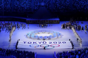 epa09359932 A general view during the Opening Ceremony of the Tokyo Olympic Games at the Olympic Stadium, in Tokyo, Japan, 23 July 2021.  EPA/JOE GIDDENS NO ARCHIVING, EDITORIAL USE ONLY, IMAGES TO BE USED FOR NEWS REPORTING PURPOSES ONLY, NO COMMERCIAL USE WHATSOEVER, NO USE IN BOOKS WITHOUT PRIOR WRITTEN CONSENT FROM AAP AUSTRALIA AND NEW ZEALAND OUT