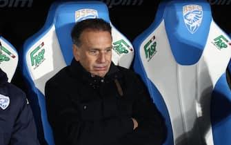 Brescia's chairman Massimo Cellino sits on the bench during the Italian Serie A soccer match Brescia Calcio vs AC Milan at the Mario Rigamonti stadium in Brescia, Italy, 24 January 2020. ANSA/FILIPPO VENEZIA