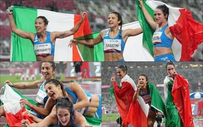 Paralimpiadi, 100 metri donne: il podio è tutto azzurro. FOTO