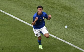 Italy's Matteo Pessina celebrates scoring their side's first goal of the game during the UEFA Euro 2020 Group A match at the Stadio Olimpico, Rome. Picture date: Sunday June 20, 2021.