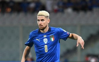 Italy's midfielder Jorginho in action during the FIFA World Cup 2022 qualifying soccer match between Italy and Bulgaria at the Artemio Franchi stadium in Florence, Italy, 02 September 2021. ANSA/CLAUDIO GIOVANNINI