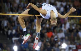 Gianmarco Tamberi of Italy competes in the men's High Jump during the Weltklasse IAAF Diamond League international athletics meeting at the Letzigrund stadium in Zurich, Switzerland, 09 September 2021.  ANSA/JEAN-CHRISTOPHE BOTT