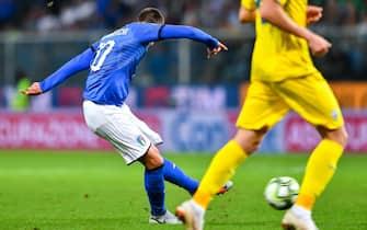 Il gol di Federico Bernardeschi in Italia-Ucraina 1-1 del 2018