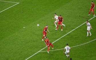 Lorenzo Insigne segna il gol del 2-0 al Belgio a Euro 2020