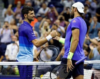 Tennis, Us Open: Berrettini battuto da Djokovic ai quarti di finale