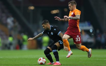 Europa League, Galatasaray-Lazio finisce 1-0: autogol di Strakosha
