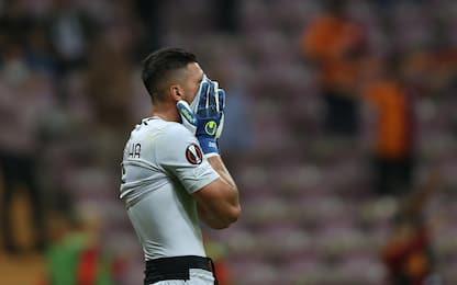 Galatasaray-Lazio 1-0: un errore di Strakosha condanna i biancocelesti