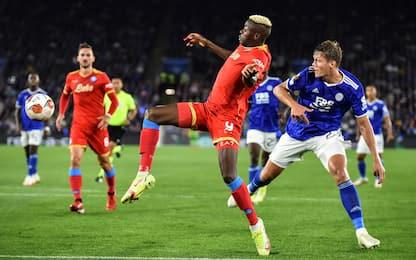 Europa League, Leicester-Napoli 2-2: doppietta di Osimhen