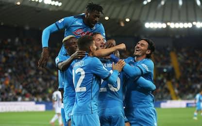 Udinese-Napoli 0-4: video, gol e highlights della partita di Serie A