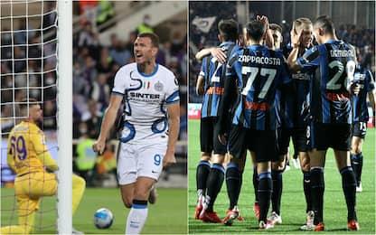 Serie A, Fiorentina-Inter 1-3, Atalanta-Sassuolo 2-1: gol e highlights
