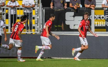 Spezia-Milan 1-2, Daniel Maldini segna al debutto da titolare. VIDEO