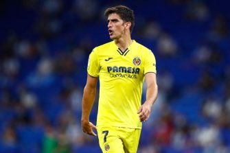 BARCELONA, SPAIN - AUGUST 21: Gerard Moreno of Villareal FC looks on during the La Liga Santader match between RCD Espanyol and Villarreal CF (Photo by Eric Alonso/Getty Images)