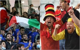 Tifosi dell'Italia e del Belgio