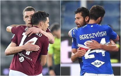 Serie A, Torino e Samp vincono dopo oltre un mese. Ko Genoa e Spezia