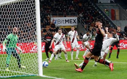 Serie A, Milan-Torino 1-0: decide Giroud. Rossoneri da soli in vetta
