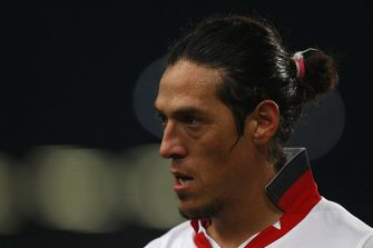 STUTTGART, GERMANY - SEPTEMBER 16:  Mauro Camoranesi of Stuttgart looks on during the UEFA Europa League group H match between VfB Stuttgart and BSC Young Boys Bern at Mercedes-Benz-Arena on September 16, 2010 in Stuttgart, Germany.  (Photo by Alexander Hassenstein/Bongarts/Getty Images)