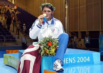 atene 2004scherma aldo montano medaglia d'orofoto elio castoria