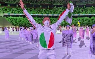 Montano alla cerimonia inaugurale dei giochi di Tokyo