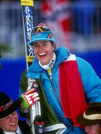 24 Feb 1994:  Deborah Compagnoni of Italy poses for a picture during the women''s combined slalom competition during the Olympic Games in Lillehammer, Norway. Mandatory Credit: Phil Cole  /Allsport