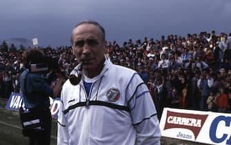 Mondiali Messico 1986. Il commissario tecnico della Nazionale italiana Enzo Bearzot con il suo staff. ANSA