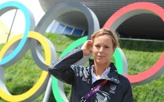 Federica Pellegrini is pictured at the Aquatics Center during the London 2012 Olympic Games in London, Britain, 04 August 2012. ANSA/ETTORE FERRARI