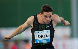 Italian athlete Filippo Tortu in action during the 100 meters trial at the Meeting Madrid 2018 competition held at Moratalaz Sports Center in Madrid, Spain, 22 June 2018. ANSA/JUANJO MARTIN