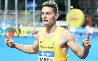 Rovereto, Italy, 27 Aug 2019, FILIPPO TORTU during Palio Of Quercia 2019 - Athletics Internationals - Credit: LPS/Roberto Tommasini/Alamy Live News