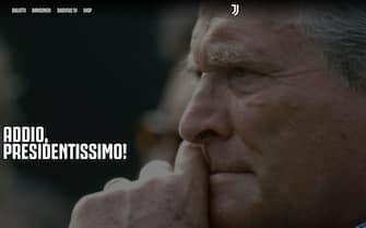 Il messaggio di addio a Boniperti sul sito della Juventus