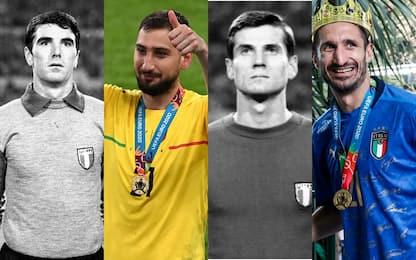 Euro 2020, Italia campione: il confronto con gli eroi del '68. LE FOTO