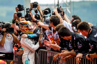 SPA, BELGIUM - AUGUST 27: Lewis Hamilton of Mercedes and Great Britain during the Formula One Grand Prix of Belgium at Circuit de Spa-Francorchamps on August 27, 2017 in Spa, Belgium.  (Photo by Peter J Fox/Getty Images)