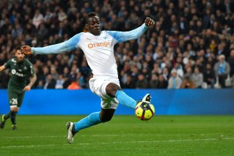 Marseille's Italian forward Mario Balotelli controls the ball during the French L1 football match between Olympique de Marseille and AS Saint-Etienne at the Velodrome Stadium in Marseille, southern France on March 3, 2019. (Photo by GERARD JULIEN / AFP)        (Photo credit should read GERARD JULIEN/AFP via Getty Images)
