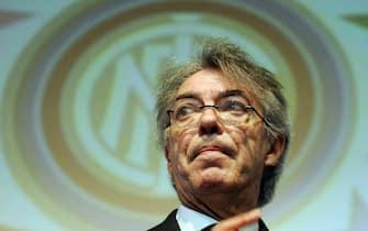 Il presidente dell'Inter Massimo Moratti a una premiazione che si è tenuta questo pomeriggio a Milano, 25 novembre 2010. ANSA/DANIEL DAL ZENNARO