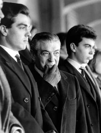 © Publifoto/LaPresse22-03-1962 Milano, ItaliaCalcioNella foto: il presidente dell'Inter ANGELO MORATTI.