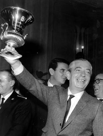 © Publifoto/LaPresse30-09-1965 Milano, ItaliaCalcioNella foto: il presidente dell'Inter ANGELO MORATTI.