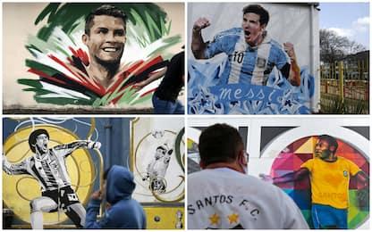 Da Maradona a CR7, i murales più belli dedicati alle icone del calcio