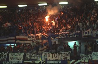 9 May 1990:  General view of the Sampdoria supporters during the European Cup Winners Cup match against Anderlecht at the Ullevi Stadium in Gothenburg, Sweden. Sampdoria won the match 2-0. \ Mandatory Credit: Ben  Radford/Allsport