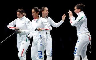 La squadra italiana di spada femminile alle Olimpiadi di Tokyo 2020