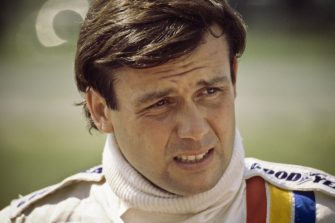 BRAINERD, MN - AUGUST 10: Patrick Tambay before Round 6 of the Can Am series held on August 10, 1980 at Brainerd International Raceway in Brainerd, Minnesota. (Photo by Alvis Upitis/Getty Images)