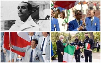 Olimpiadi, da Roma '60 a Tokyo 2020: tutti i portabandiera dell'Italia