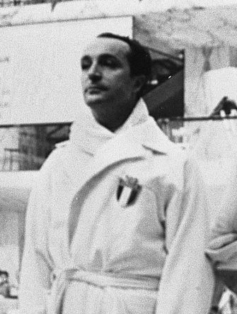 Edoardo Mangiarotti alle Olimpiadi di Roma del 1960.  ANSA